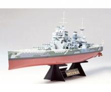 Tamiya 300078013-1:350 WWII Deutsches Kampfschiff Bismarck