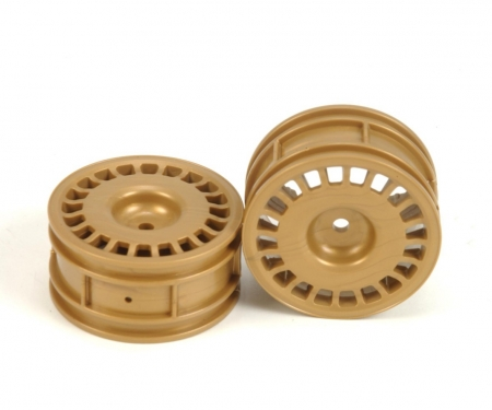 1:10 Felgen (2) Rally-Dish gold 26mm