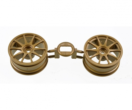tamiya 1:10 10-Spoke Wheels gold 26mm (2)