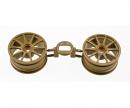 tamiya 1:10 10-Speichen-Felgen gold 26mm (2)