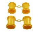 tamiya Lunch Box Wheel-Set yellow (2+2)