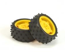 tamiya Buggy-Tire/Wheel 5-Star yel.80/32(2)rear