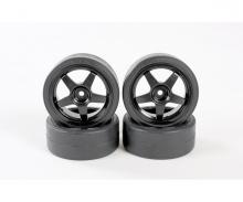 tamiya 1:10 Drifträder (4) schwarz 26mm