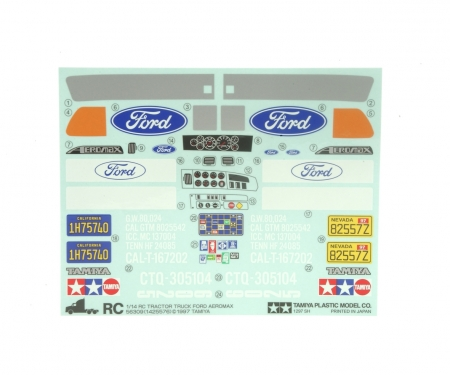 tamiya Sticker Bag Ford Aeromax 56309