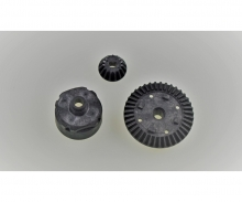 tamiya TT-02RR DIFF HOUSING SET(BLACK)