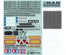 tamiya Sticker-Beutel MAN TGX 18.540 56329