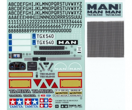 tamiya Sticker MAN TGX 18.540 Ver.II