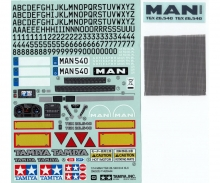 tamiya Sticker MAN TGX 26.540 Ver.II