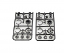 tamiya CC-02 X-Parts (Silver) (2) : 58675
