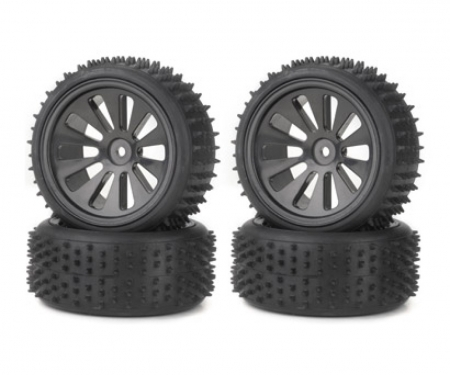 Tyre set Off-Road CV-10B black (4)