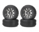 tamiya Tyre set Off-Road CV-10B black (4)