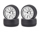 tamiya On-road tyre set, chrome (4) C V-10B