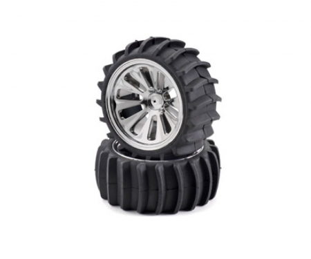 tamiya Beach tyre set, chrome (4) CV- 10B