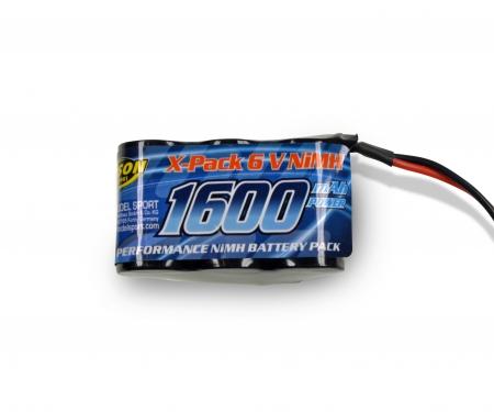 tamiya 6V/1600mAh NiMH RX-Battery Hump JR