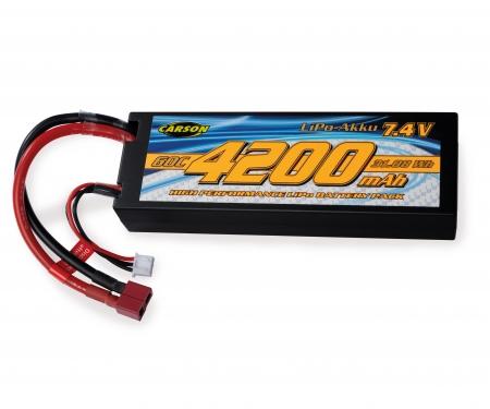 tamiya 7,4V/4200mAh 60C LiPO Battery T-Pl. HC