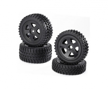 tamiya Buggy-Tire/Wheel Set All Terrain Bl(2+2)