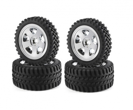 tamiya Buggy-Tire/Wheel All Terrain Chr. (2+2)