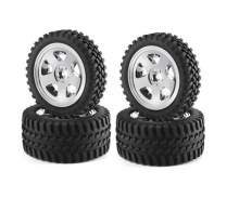 Buggy-Tire/Wheel All Terrain Chr. (2+2)