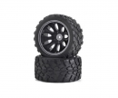 tamiya Tyre/wheel rim set Off-Road CV-10T black