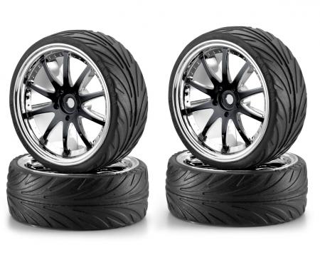 tamiya 1:10 Big Wheel-Set 02 10Speic Sch/Ch (4)
