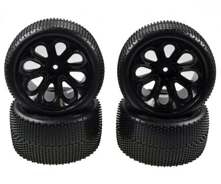 tamiya X10ET Rock Warrior Pre glued tyres 4x
