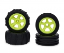 tamiya 1:10 2WD Paddle Tires 4pcs (neon yellow)