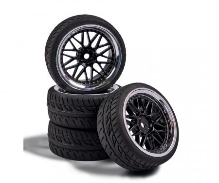tamiya 1:10 Wheel Set Y-Design1 (4) bl./chrome