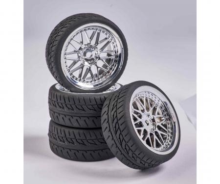 tamiya 1:10 Wheel Set Y-Design1 (4) chrome