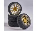 tamiya 1:10 Wheel Set Y-Design2 (4) gold/chrome