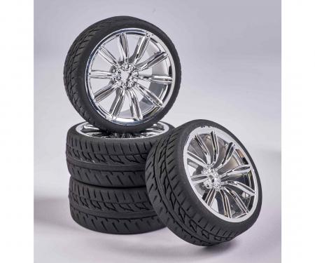 tamiya 1:10 Wheel Set M-Design (4) chrome
