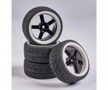 tamiya 1:10 Wheel Set 5 sp. Design (4) black/wh