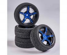 tamiya 1:10 Räderset 5 Sp.-Design (4) blau/schw