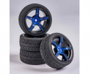 tamiya 1:10 Wheel Set 5 sp. Design (4) blue/bl