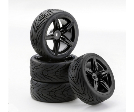 tamiya 1:10 SC-Räder F12 Style schwarz (4)