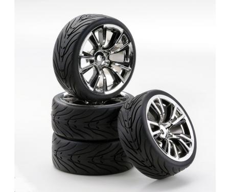 1:10 SC-Räder BR Style chrom/schwarz (4)