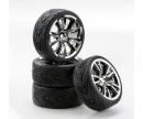 1:10 SC-Wheel BR Style chrome/black (4)
