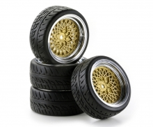 tamiya 1:10 SC-Räder Classic Style ch/gold (4)