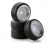 tamiya 1:10 SC-Wheel Classic Style ch/white (4)