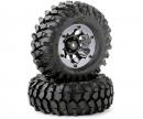 Tire set Crawler 96mm black bead lock