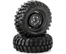 Tire set Crawler 96mm black scale rim