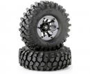 1:10 Räderset Crawler schwarz 108mm (2)