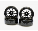 Drift Tire Set 1/10 (Touge Tyre)black(4)