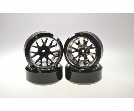 tamiya Drift Tire Set 1/10 H-Fl.(W-R.)bl./chr.