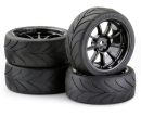 tamiya Touring Tyre Set 3mm 1/10 TA(9R.)bl.(4)