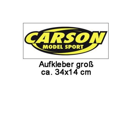 Carson sticker, big 34 x 14 cm