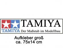 Aufkleber TAMIYA groß 75x14cm
